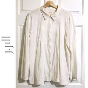 J.JILL 100% Cotton Button Down Shirt Top